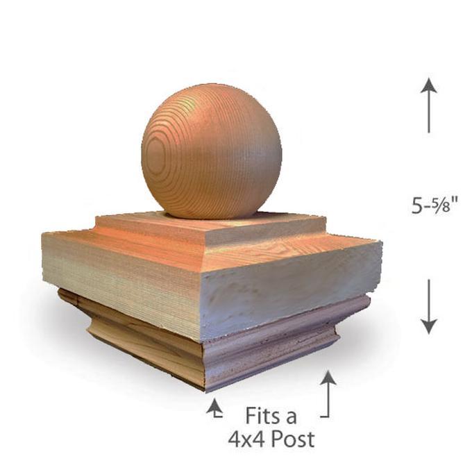 Ball Top Post Cap — 4x4