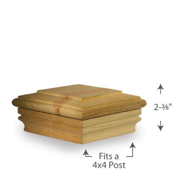 Newport Flat Top Post Cap — 4x4