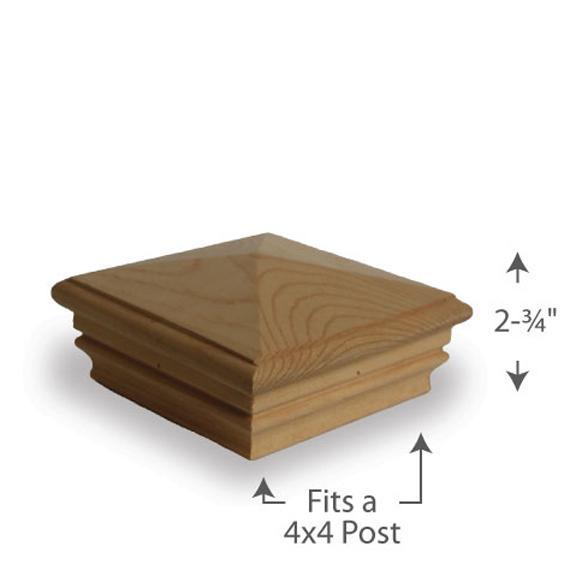 Newport Pyramid Post Cap — 4x4