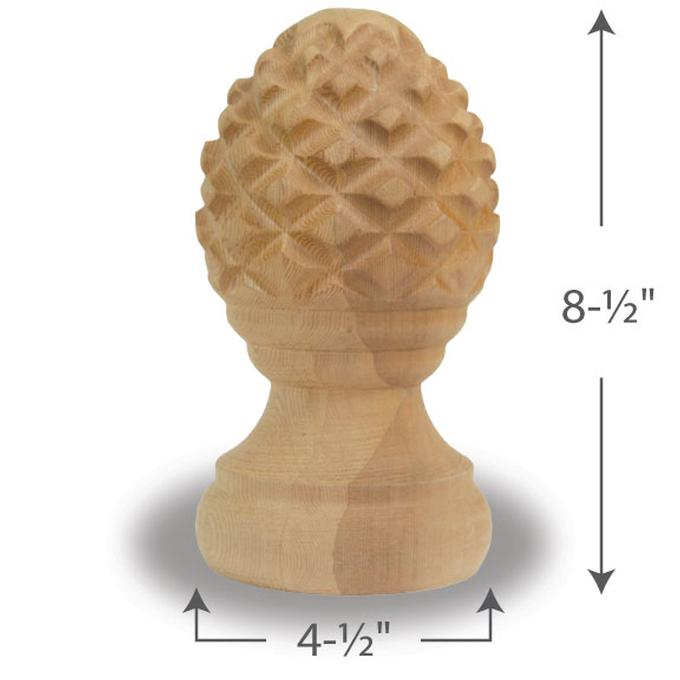Pineapple Finial with Rings — 6