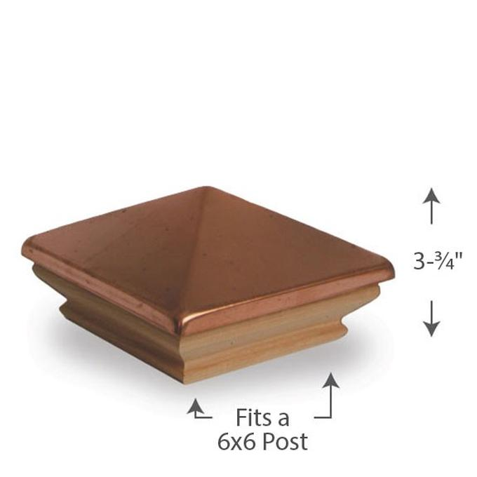 Copper Pyramid Post Cap - 6x6